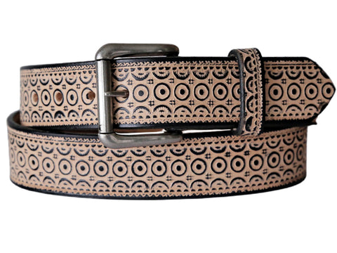 Concentric Circles Leather Belt