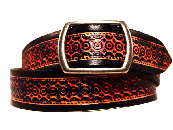 "Handmade Leather Belt-""Moroccan"" (1.75"")"