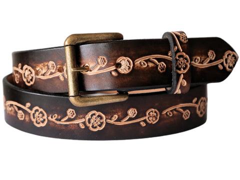 "Handmade Leather Belt-""La Belle"""