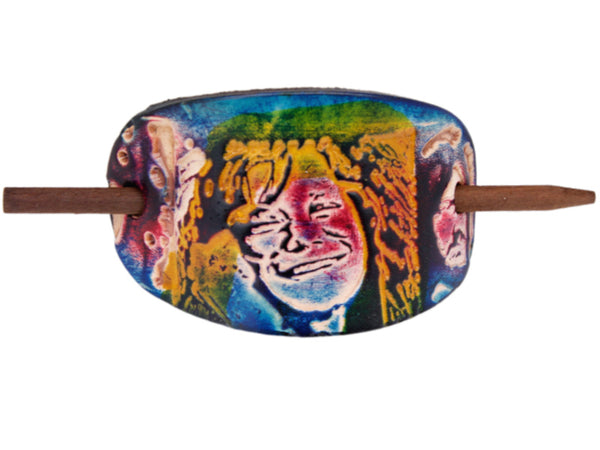 Janis Joplin Leather Hair Barrette