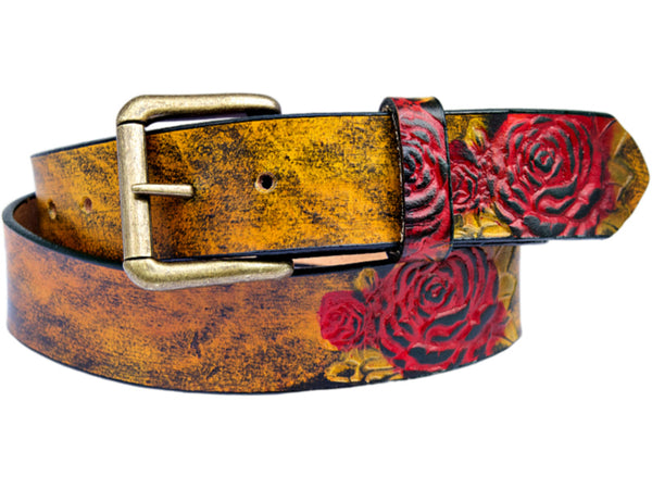 Handmade Leather Desert Rose Belt