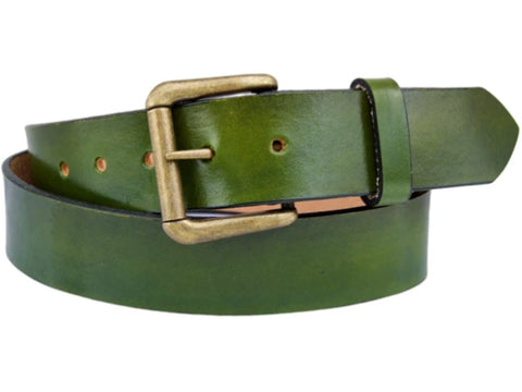 Handmade Leather Belt-Avocado