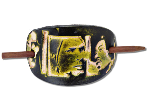 Come As You Are Leather Hair Barrette