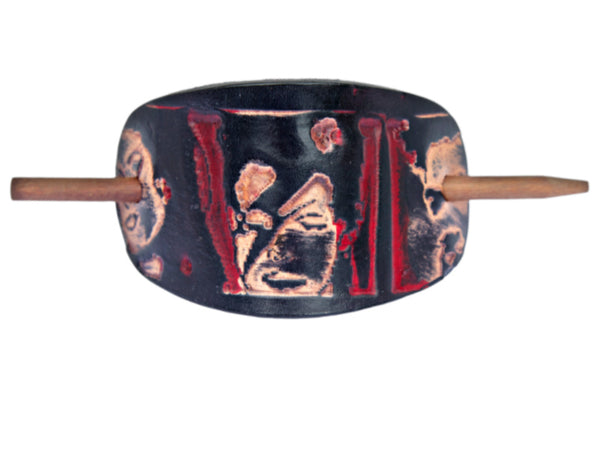 Ziggy Stardust Leather Hair Barrette