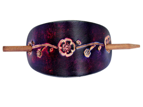 La Belle Leather Hair Barrette
