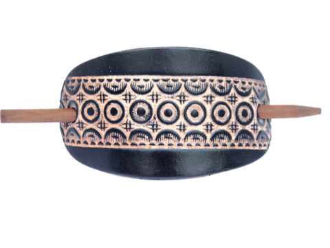 Moroccan Leather Hair Barrette