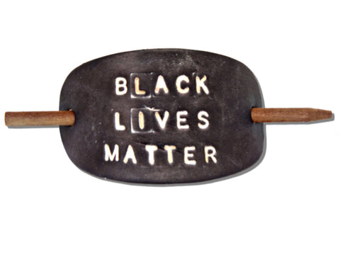 BLM Leather Hair Barrette (profits donated to Black Lives Matter)