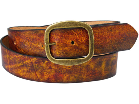Handmade Leather Belt-Setting Sun