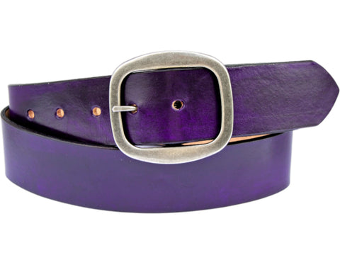 Handmade Leather Belt-Purple Crush