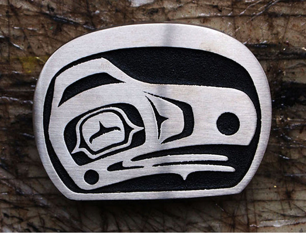 "Handmade ""Raven"" Belt Buckle"