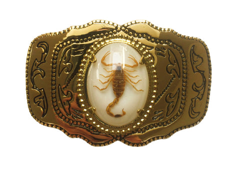 Gold Scorpion Belt Buckle