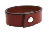 "Handmade Leather Wristband-""Congac Brown Latigo"""