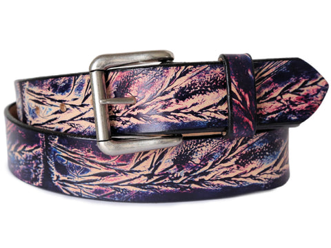 Wild Grass Leather Belt