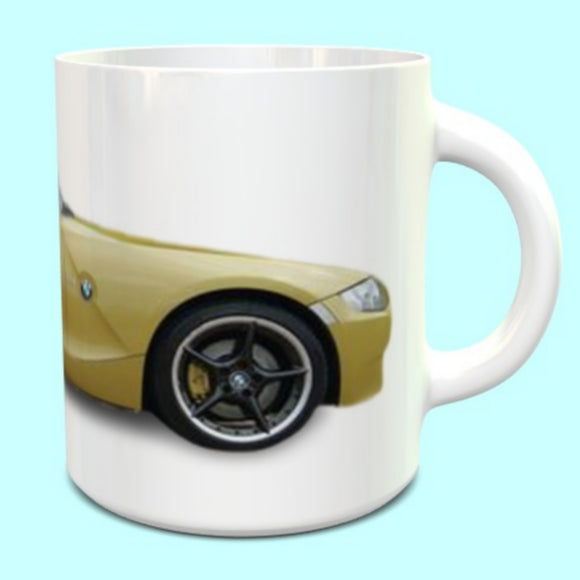 BMW Z4M Coupe Mug in Phoenix Yellow