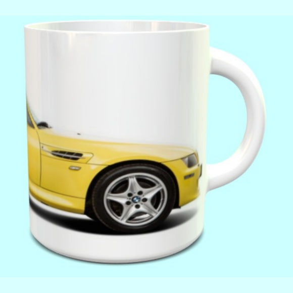 BMW Z3M Coupe Yellow Mug