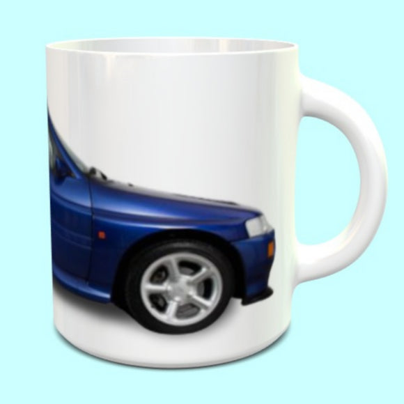 Ford Escort Cosworth RS Mug in Pacifica Blue