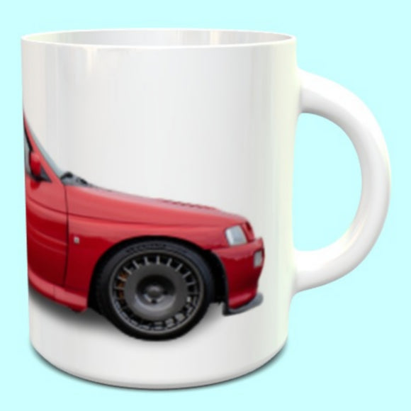 Ford Escort Cosworth RS Mug in Radiant Red