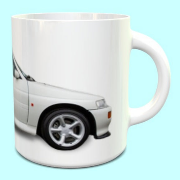 Ford Escort Cosworth RS Mug in diamond white