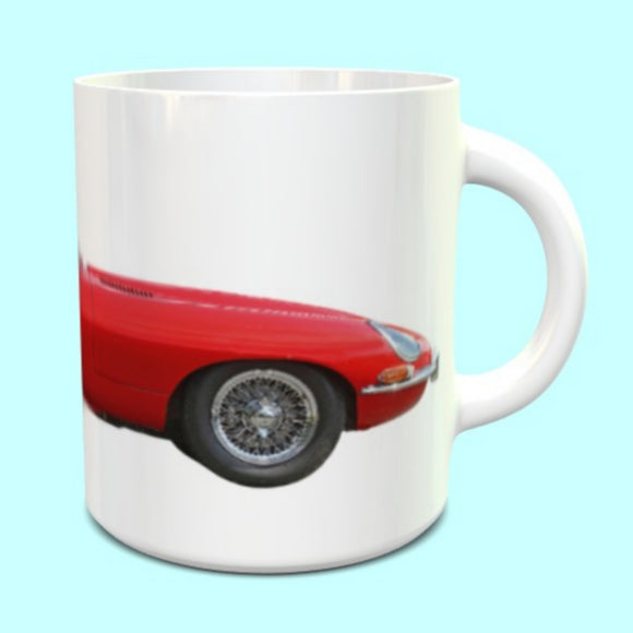 Jaguar E Type Mug Series 1 Soft top in Red