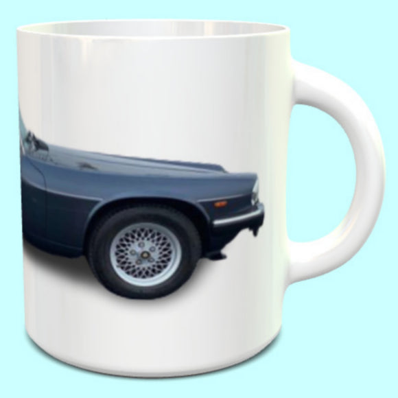Jaguar XJS Convertable  Blue Mug