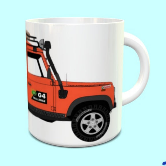 Land Rover Defender 110 G4 Challenge Mug  Orange