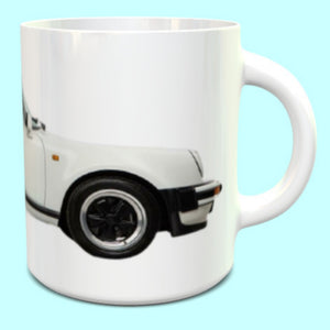 Porsche 911 930 Carrera Turbo Cabriolet Mug in Grand Prix White 1