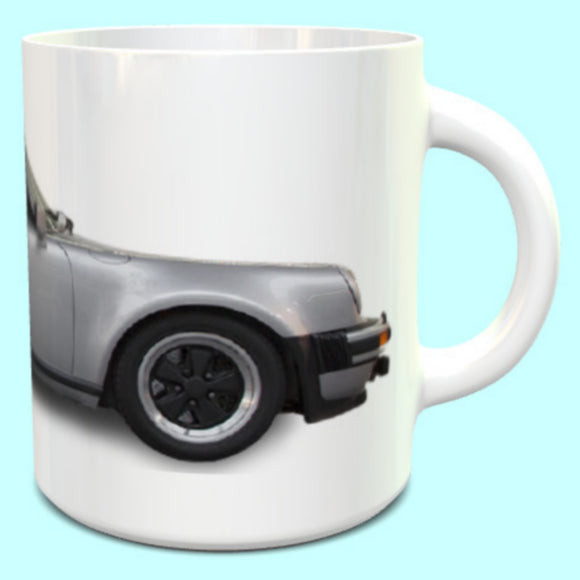 Porsche 911 930 3.2 Carrera Turbo Mug in Silver