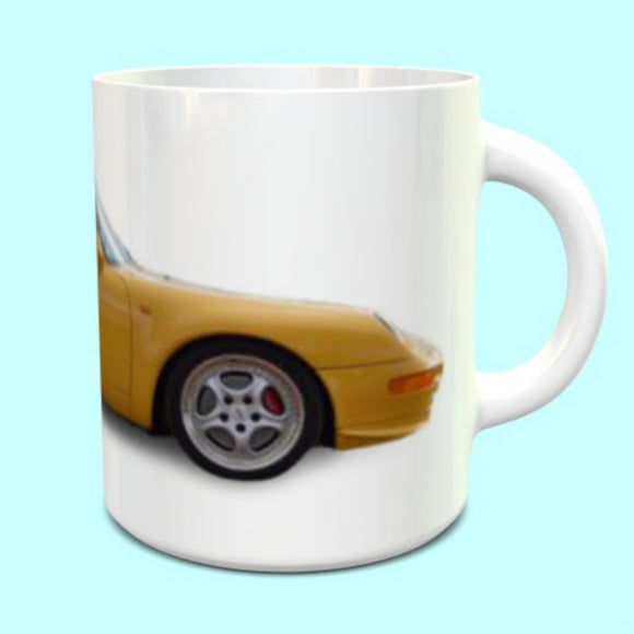 Porsche 911 993 RS Mug Speed  Yellow