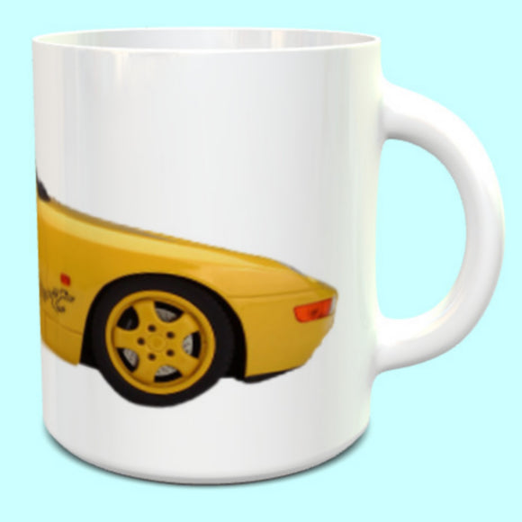 Porsche 968 Clubsport Mug Speed Yellow
