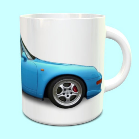 Porsche 911 993 RS Mug Miami Blue