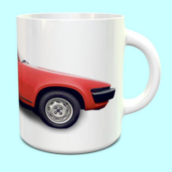 Triumph TR7 Coupe in Red Mug