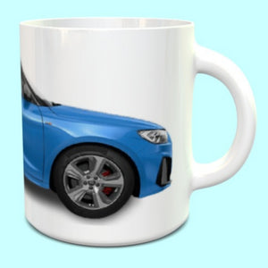 Audi A1 Competition Turbo Blue Mug