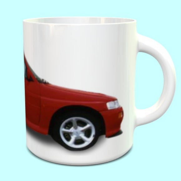 Ford Escort Cosworth RS Mug in Radiant Red- Standard Alloys