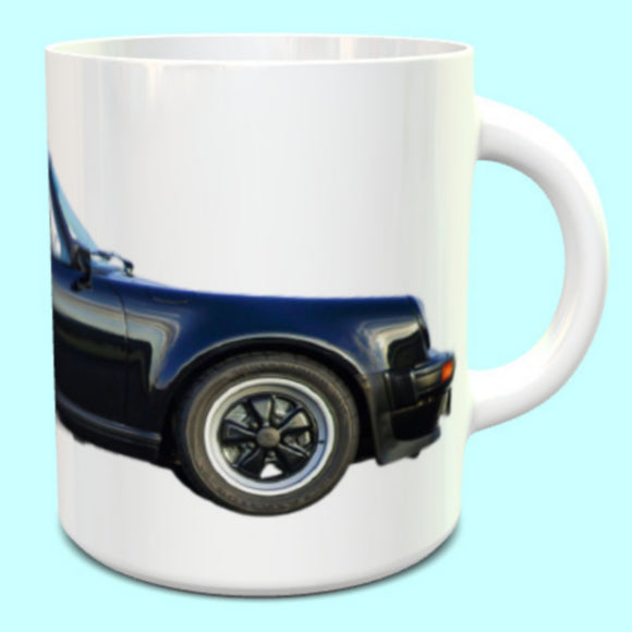 Porsche 911 930 Carrera Turbo Cabriolet Mug in Black