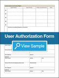 User Authorization Form