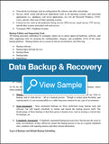 Data Backup and Recovery Policy and Procedures