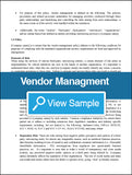 Vendor Management Policy and Procedures
