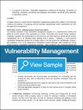 Vulnerability Management Policy and Procedures