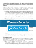 Wireless Security Policy and Procedures