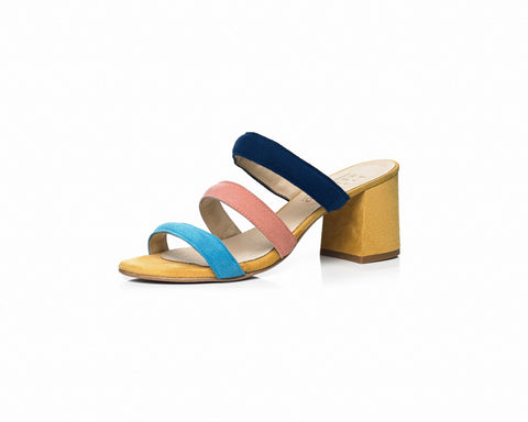 strap mule color women's
