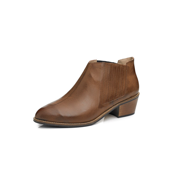 Women's Texan boot in brown leather