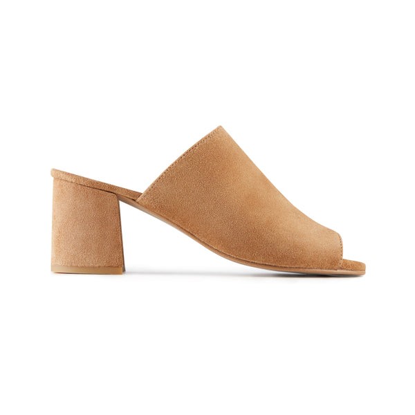 CAMEL MULES SHOES HEEL