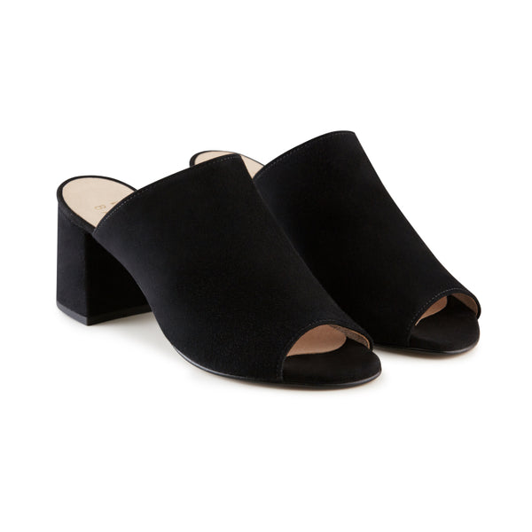 Black heel mule alternative brand