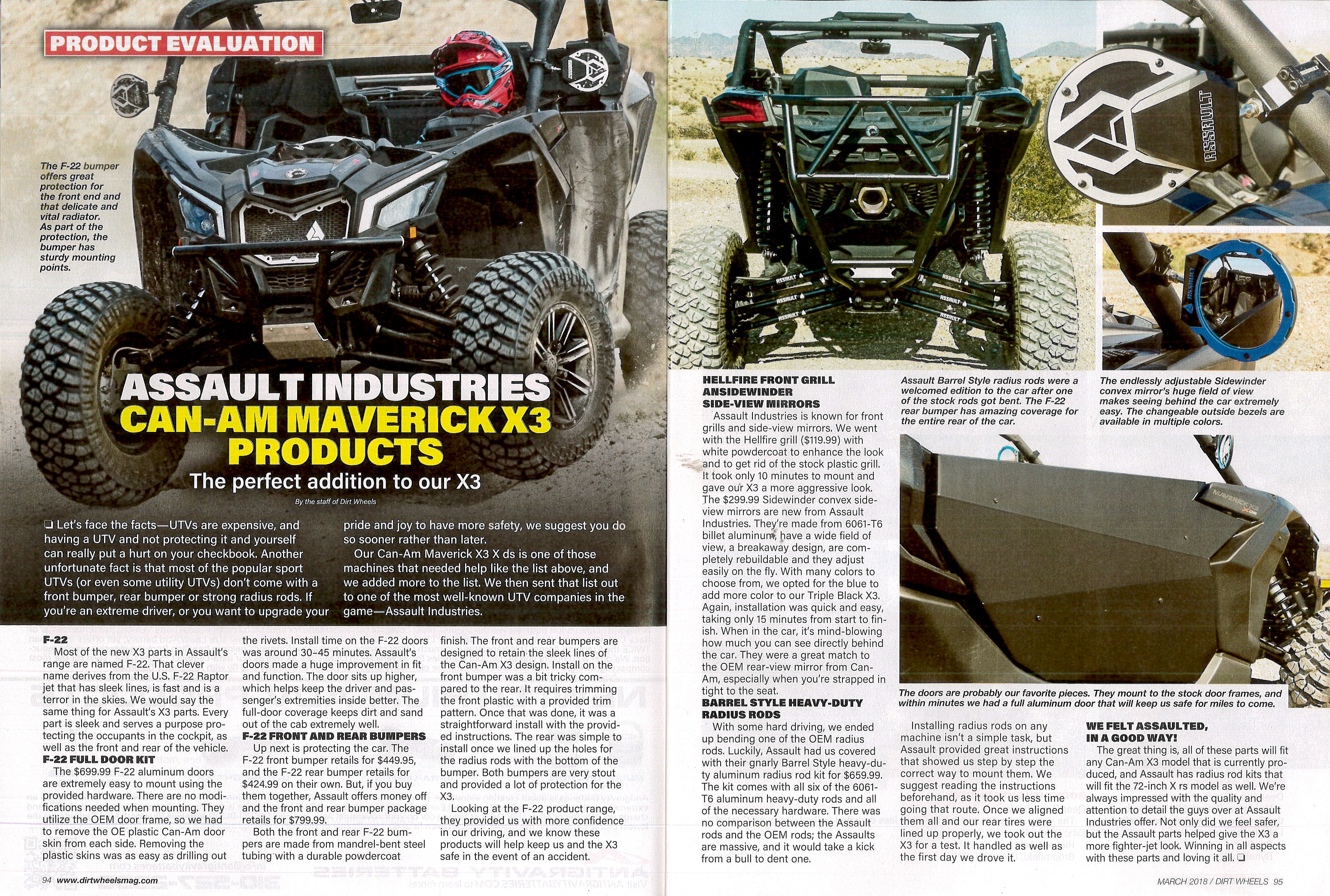 News: CanAm Maverick X3 product review in the March 2018 Dirt Wheels