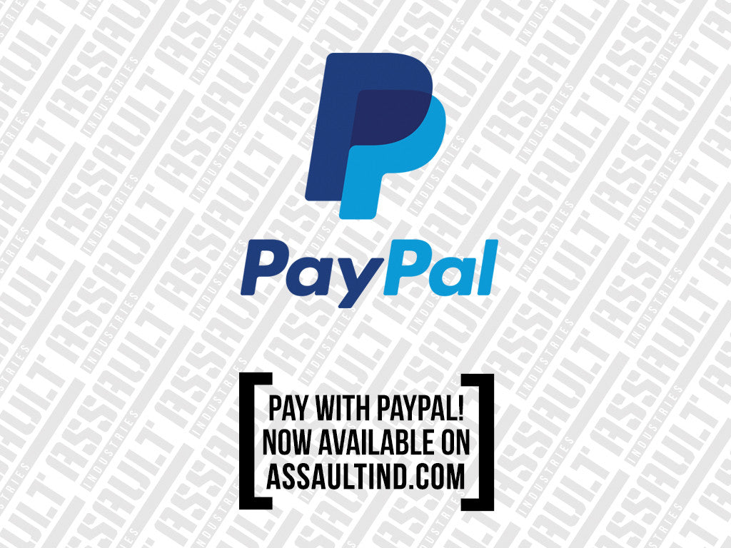 **NEW** Pay with PayPal on AssaultIND.com!