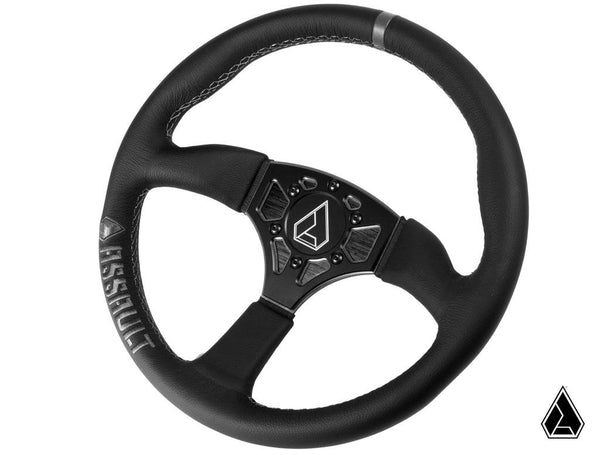 **NEW** Assault Industries 350R Leather Steering Wheel (Universal)