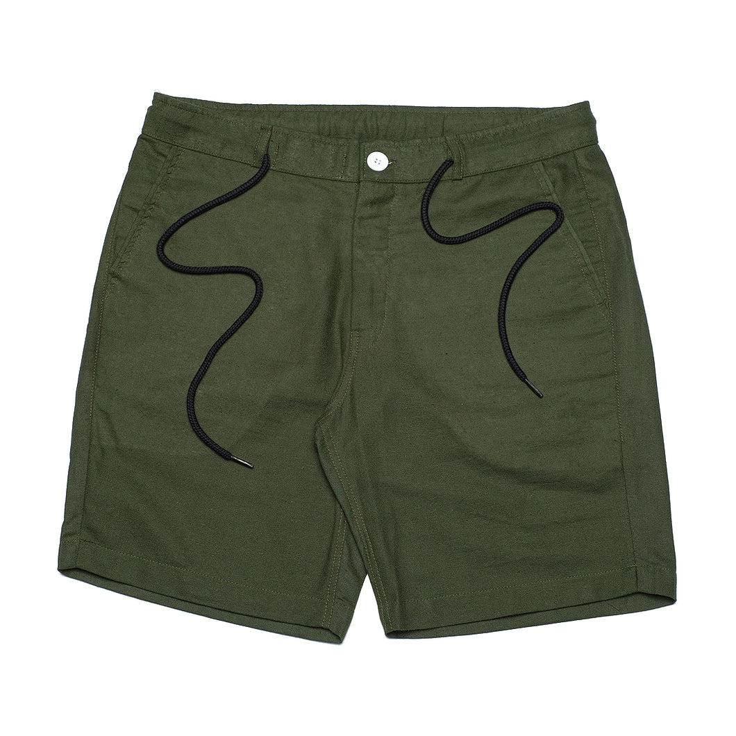 Army Linen Comfy Short Pants
