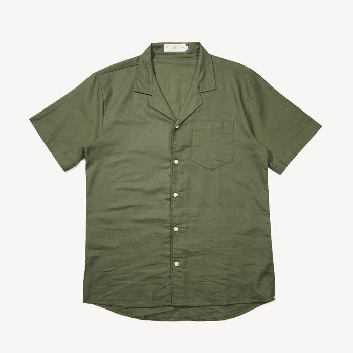 Relaxed Fit Army Bowling Shirt