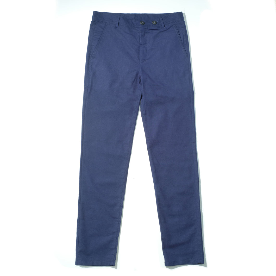 Navy Comfy Casual Linen Trousers