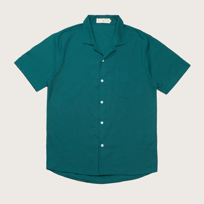 Relaxed Fit Midnight Green Bowling Shirts
